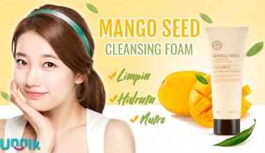 MANGO SEED SILK CLEANSING FOAM (The Face Shop)
